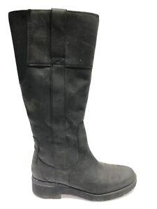 Timberland Women's Gracelyn, Waterproof Tall Black Zip Boots, Size 8.5M.