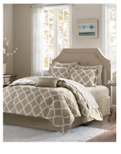 Madison Park Essentials Merritt Reversible 9-Pc. Comforter Set - KING - Taupe
