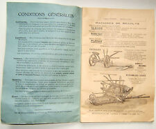"ANCIEN CATALOGUE OUTILLAGE AGRICOLE "" BESSON / MONTLUCON "" ANNEES 1930"