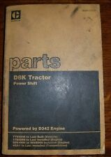 Caterpillar D8K Powershift Tractor Parts Catalog Manual 77V5006 SEE PICS INFO