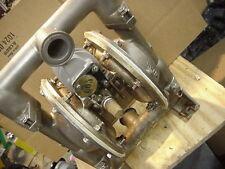 "Versa-Matic Stainless air powered diaphram pump 1"" sanitary fittings ARO Wilden"