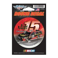 "Clint Bowyer 2015 Wincraft #15 5 Hour Energy Round Decal 3"" FREE SHIP!"