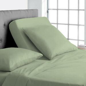 "600 TC 100% Egyptian Cotton - Split Head Sheet Set 15"" Deep Pocket Solid"