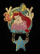 Ariel Flounder Little Mermaid Princess Icon 3D Dangle Starfish Disney Pin 46118