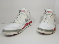 Nike Air Flight Classic White Red Gray 414967 104 Sz 12