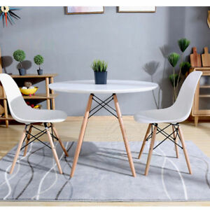 Dining Table Chairs Retro Eiffel Style Wood Legs Kitchen Office Furniture