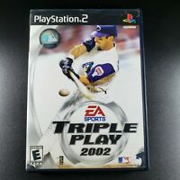 Triple Play 2002 Sony PlayStation 2 CIB Complete Video Game Tested PS2 Baseball