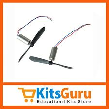 2pcs x DC 3.7V 720 7*20 mm Magnetic Micro Coreless Motor + Propeller 48000 RPM