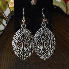 Fashion Vintage Tibetan Silver Hollow Carving Drop Dangle Earrings Ear Hook