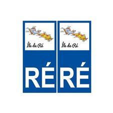 Ile de Ré carte autocollant sticker plaque immatriculation droits