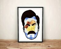 Ron Swanson Parks and Recreation Breakfast Poster Gift Art Print Bacon Eggs
