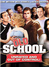 1 CENT DVD Old School [Unrated and Out of Control!] [Full Screen] Will Ferrell