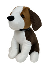 Cute Brown and White Beagle Dog Soft Doorstop