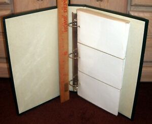 """3 Ring Binder Photo Album Holds 300 4"""" x 6"""" Pictures 50 Sheets Green Gently Used"""