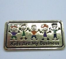 Anderson's Pin Brooch Kids Are My Business Gold Teacher Daycare Nanny Career