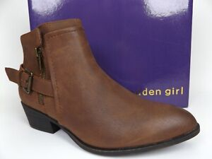 Madden Girl Womens HUNTTZ Faux Leather Almond Toe Ankle Booties SZ 7.5 M, 17745