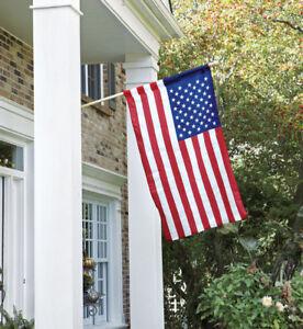 NEW Valley Forge 2.5' x 4' NYLON United States USA AMERICAN FLAG SET Pole
