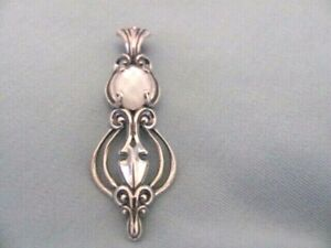 NEW CAROLYN POLLACK STERLING SILVER WHITE MOP DOUBLET ENHANCER PENDANT