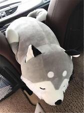 Giant Pop Soft Cartoon Lying Husky Plush Doll Pillow Big Stuffed Animal Dog Gift