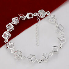 FREE P&P XMAS GIFT Jewelry 925SOLID Silver Charming Women Men's Bracelet Bangle