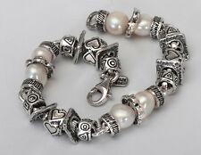 B00683SP SHABLOOL ISRAEL Didae Handcrafted FW Pearl Sterling Silver 925 Bracelet