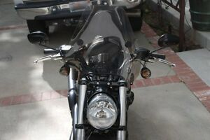 "Harley Davidson Night-Rod V-Rod -Smoke Tinted 15"" Spitfire Windshield & Hardware"