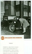 WENDY GIFFORD CRANKS AUSTIN 7 CAR COURT MARTIAL ORIGINAL 1966 ABC TV PHOTO
