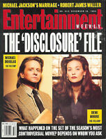 MICHAEL DOUGLAS Robert James Waller DEMI MOORE  collectible 1994 EW magazine