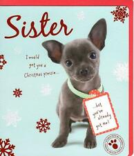 Sister Cute Studio Pets Christmas Greeting Card Xmas Cards