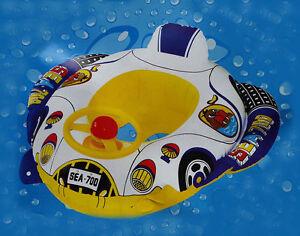 New Kids Baby Swimming Pool Float Boat Swim Seat With Wheel & Horn UK Seller