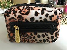 Soho Leopard Print Cosmetic Travel Bag, NWOT