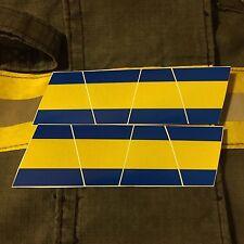 FIREFIGHTER HELMET TETS 8 PACK TETRAHEDRONS FIRE HELMET STICKER - BLUE/YELLOW