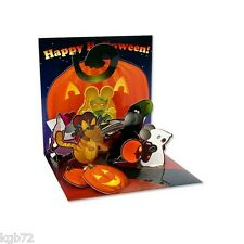 Pumpkin Mice Pop Up Greeting Card by Up With Paper Treasures # 901 Halloween