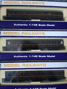 3 X Dapol Gresley Coaches BR Maroon