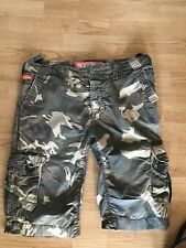 Superdry Cargo Camoflage Print Shorts Size L