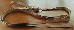 LEATHER Twin Quick Release Slip Lead+handle Lurcher/Greyhound Lamping/Coursing