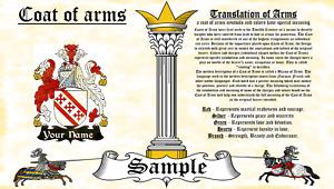 Leondon-Loundin COAT OF ARMS HERALDRY BLAZONRY PRINT