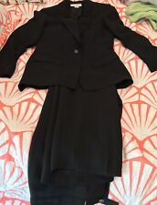Jones New York Full Lined Women Suit  Black striped, Pant size 10/Jaket Size 10
