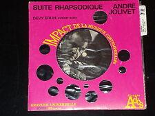 mini 33 TOURS - ANDRE JOLIVE - SUITE RHAPSODIQUE - ANNEES 1960 - DEVY ERLIH