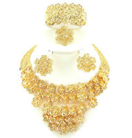 Beautiful Design African Gold Plated Party Bridal Wedding Jewellery Set