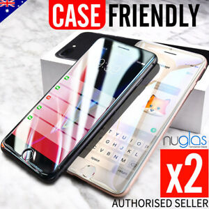 2x NUGLAS Tempered Glass Screen Protector For iPhone XS Max XR X 8 7 6s Plus