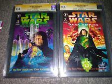 Star Wars Dark Empire #5 #6 CGC SS 9.4 Hidden   Clone Palpatine's bodies Rare