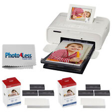 Canon SELPHY CP1300 Photo Printer (White) + 2x KP-108IN Color Ink and Paper