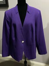 Gorgeous Women's 3x Purple Calvin Klein lined, 1 button Blazer NWOT