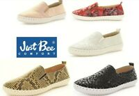 New Just Bee Leather slip on comfort flats Just Bee Shoes Australia Coble