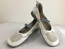 PRADA Slip-On Mary-Jane Style Slip On Shoes White Leather & Mesh Fabric Size 39