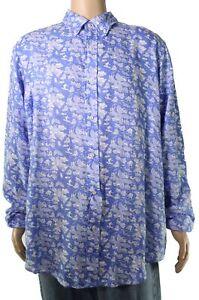 Polo Ralph Lauren Mens Shirt Blue Size Medium M Classic Fit Linen $125 #099