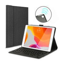 Für iPad 7th Gen 10.2 2019 QWERTZ Tastatur Schutzhülle Bluetooth Keyboard Case