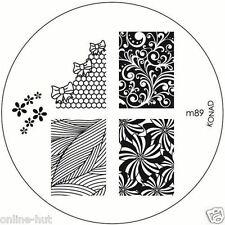 Originale Konad stamping stencil per stamping VERNICE m89