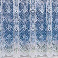 "6 X Rome Heavy White Net Curtain  91cm ( 36"" ) drop"